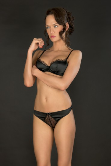 VILLA SATINE SG PUSH UP NOIR 85D/70D/32D