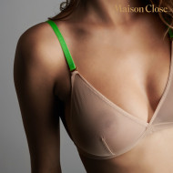 CORPS A CORPS SOUTIEN GORGE TRIANGLE - CHAIR/VERT FLUO/OR