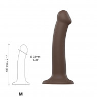 DILDO DUAL DENSITY SEMI-REALISTE BENDABLE CHOCOLAT TAILLE M