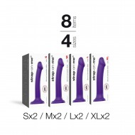 PACK IMPLANTATION BENDABLE DILDO 8PCS VIOLET