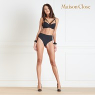 TAPAGE NOCTURNE STRING TAILLE HAUTE OUVRABLE - NOIR