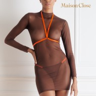CORPS A CORPS ROBE - CHOCO/ORANGE FLUO