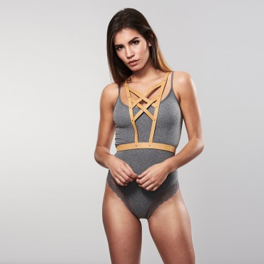 MAZE -CROSS CLEAVAGE HARNESS BROWN