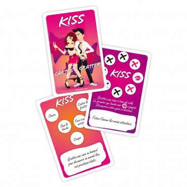 JEU KISS - CARTES A GRATTER - FRENCH ONLY
