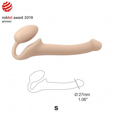 SEMI-REALISTIC BENDABLE STRAP-ON FLESH SIZE S
