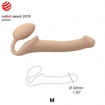 SEMI-REALISTIC BENDABLE STRAP-ON FLESH SIZE M