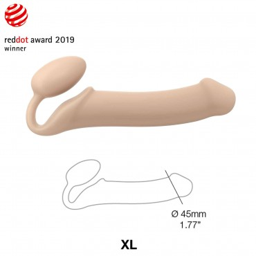SEMI-REALISTIC BENDABLE STRAP-ON FLESH SIZE XL