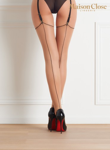 CUT AND CURLED 20 DENIERS  BACK SEAMED STOCKINGS