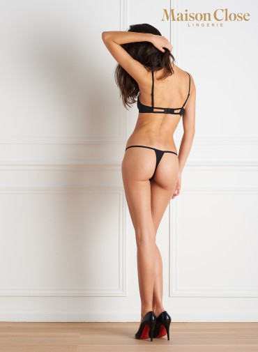 LE PETIT SECRET - OPENED THONG - BLACK