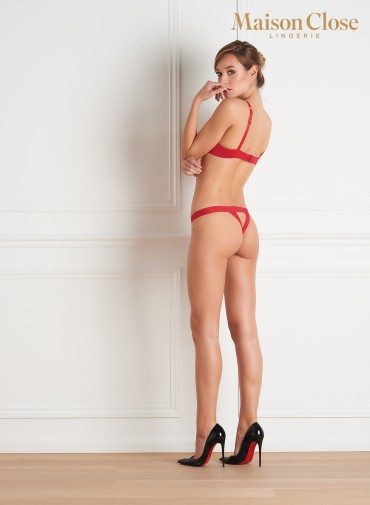 TAPAGE NOCTURNE OPEN THONG - RED