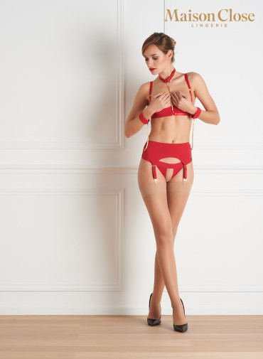 TAPAGE NOCTURNE GARTER BELT - RED