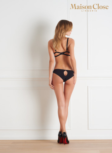 TAPAGE NOCTURNE PANTY - BLACK