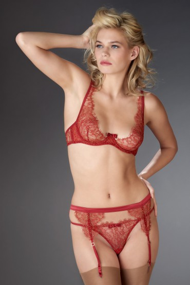 JARDIN IMPERIAL GARTER BELT RED