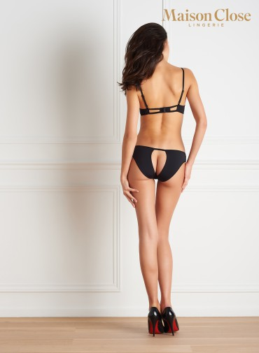 LE PETIT SECRET - OPEN PANTY - BLACK