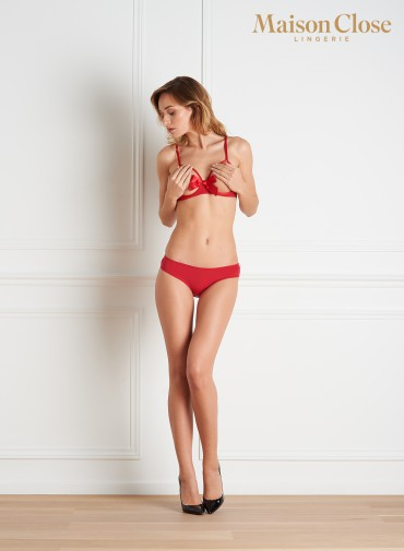 LE PETIT SECRET - NAKED BREAST BRA - RED