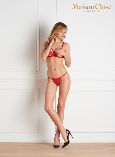 LE PETIT SECRET - OPEN THONG - RED