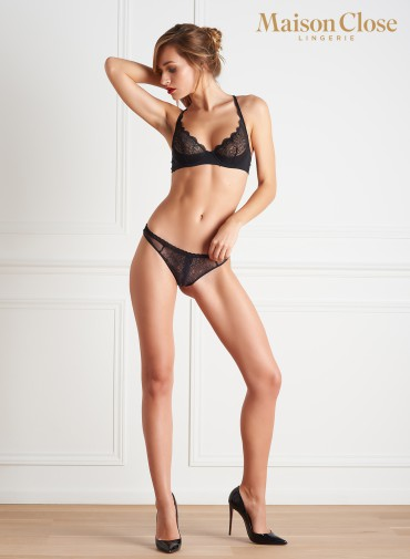 LA DIRECTRICE QUARTER CUP BRA BLACK