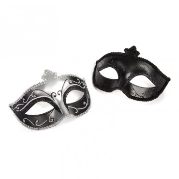 MASKS ON - MASQUERADE MASK TWIN PACK