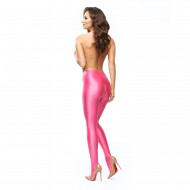 P800 -  PINK - GLOSSY OPAQUE OPEN CROTCH PANTYHOSE
