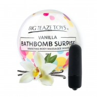 BATH BOM SURPRISE WITH VIBRATING BODY MASSAGER - VANILLA