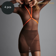 SIGNATURE - HARNESS - NEON ORANGE/GOLD - ONE SIZE - PACK OF 4
