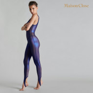 BLUE ANGEL ONE SHOULDER CATSUIT - TULLE