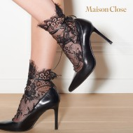 SOCKS -  BLACK/LACE - ONE SIZE