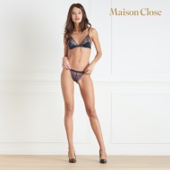 Soutien-gorge triangle Maison Close Villa Satine Marine