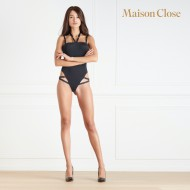 TAPAGE NOCTURNE THONG BODYSUIT - BLACK