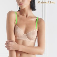 CORPS A CORPS - WIRE BRA - NUDE/NEON GREEN