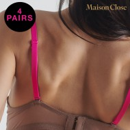 SIGNATURE - BRA STRAPS - NEON PINK - PACK OF 4 X 1 PAIR