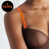 SIGNATURE - BRA STRAPS - NEON ORANGE - PACK OF 4X 1 PAIR