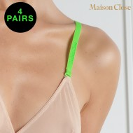 SIGNATURE - BRA STRAPS - NEON GREEN - PACK OF 4 X 1 PAIR