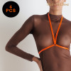 SIGNATURE - HARNESS - NEON ORANGE - ONE SIZE - PACK OF 4
