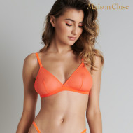 CORPS A CORPS NEON SOUTIEN GORGE TRIANGLE - ORANGE FLUO/OR
