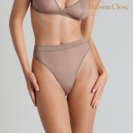 CORPS A CORPS STRING TAILLE HAUTE - TAUPE