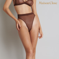 CORPS A CORPS STRING TAILLE HAUTE - CHOCO