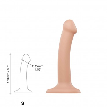 DILDO DUAL DENSITY SEMI-REALISTE BENDABLE CHAIR TAILLE S