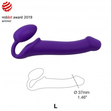 STRAP-ON SEMI-REALISTE BENDABLE VIOLET TAILLE L