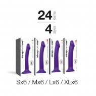ASSORTIMENT BENDABLE DILDO 24PCS VIOLET