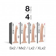 ASSORTIMENT BENDABLE DILDO 8PCS VANILLE