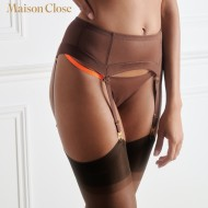 CORPS A CORPS PORTE-JARRETELLES - CHOCO/ORANGE FLUO