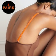 SIGNATURE - BRETELLES BODY - ORANGE FLUO - LOT DE 4 X 1 PAIRE